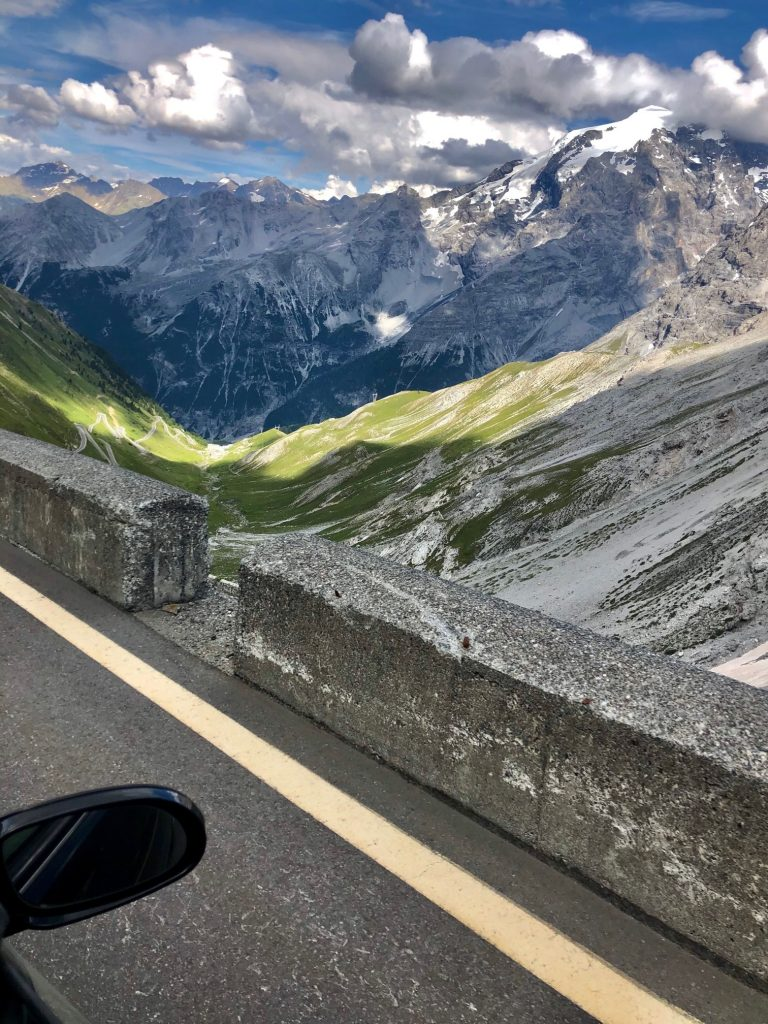 Scenic mountain road in the Dolomites. Stelvio Pass is a famous driving road that you can see during our Italy road trip.