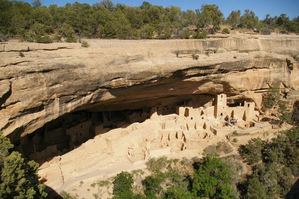 cliff dwellings in mesa verde national park, colorado.