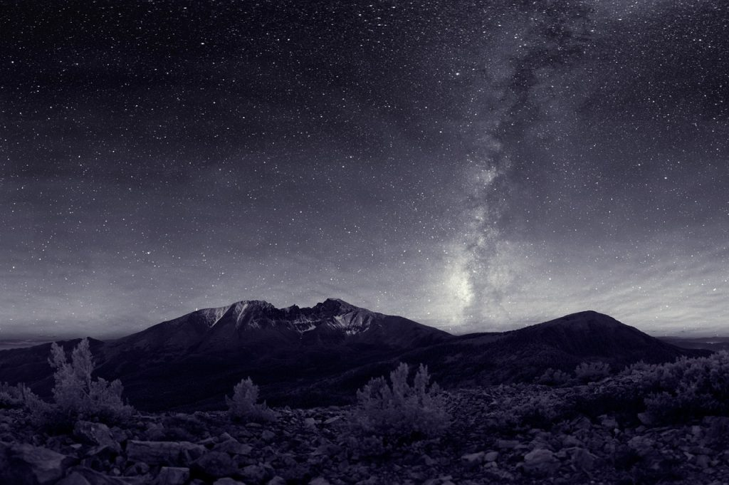 Skygazing at the clear skies in Great Basin National Park, Nevada. Milkyway can clearly be seen as the sky remains free of light pollution