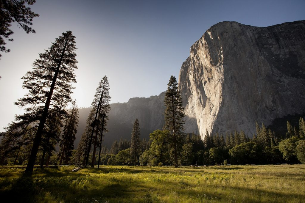 El Capitan boulder in Yosemite Valley, Yosemite National Park. You can see this park along one of our curated road trip itineraries around the best national parks in the United States.