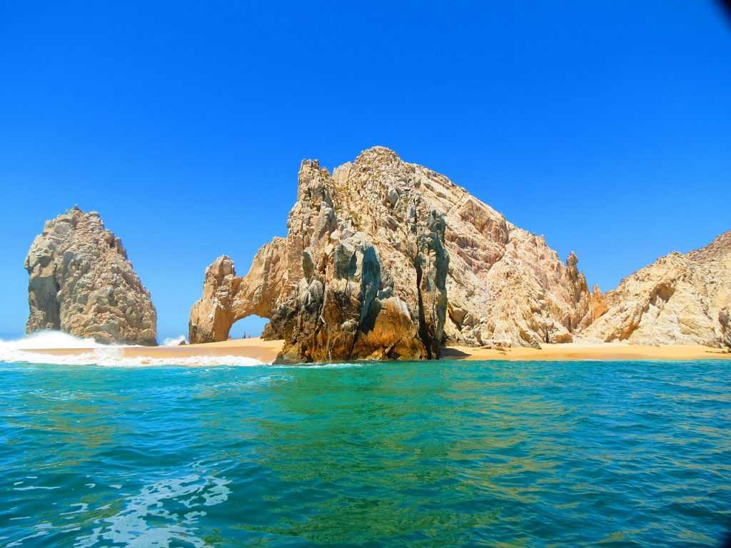 Spectacular rock formations at Land's End, which is one of the best things to do in Cabo San Lucas, Baja California, Mexico.