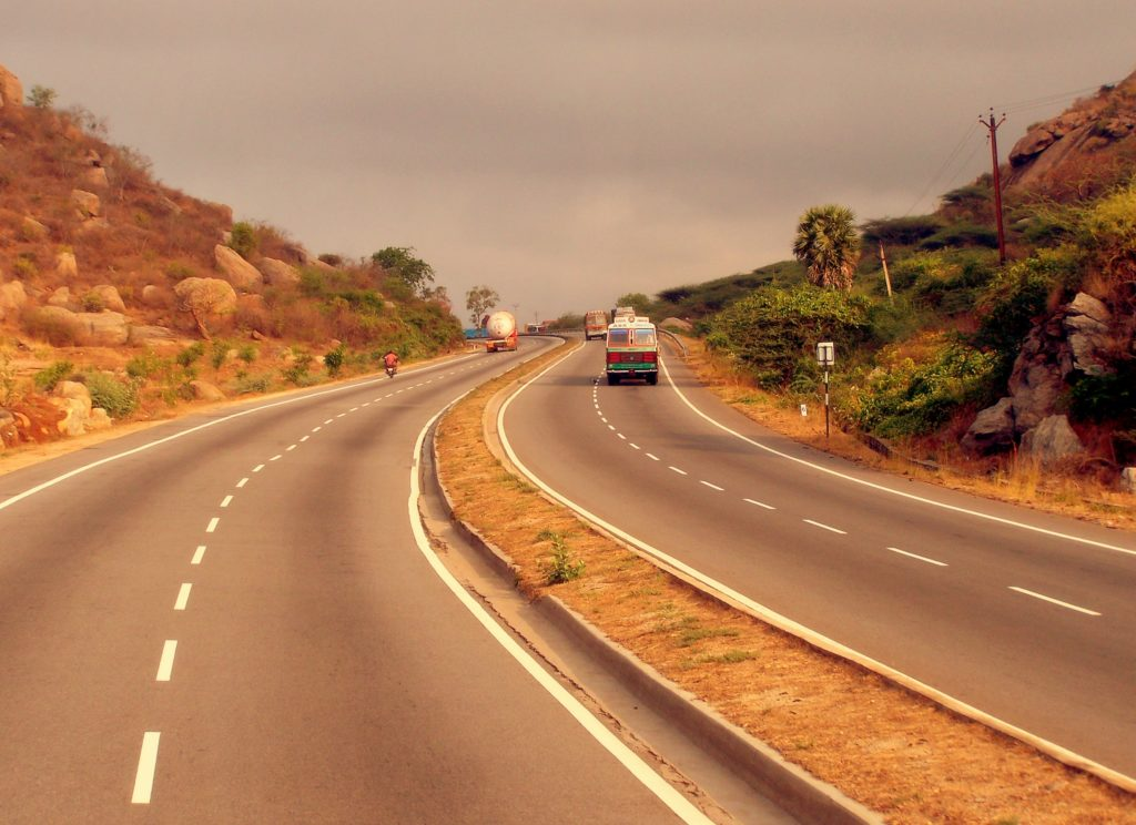 Golden Quadrilateral Highway, one of the longest roads in the world, connects the four major cities in India.