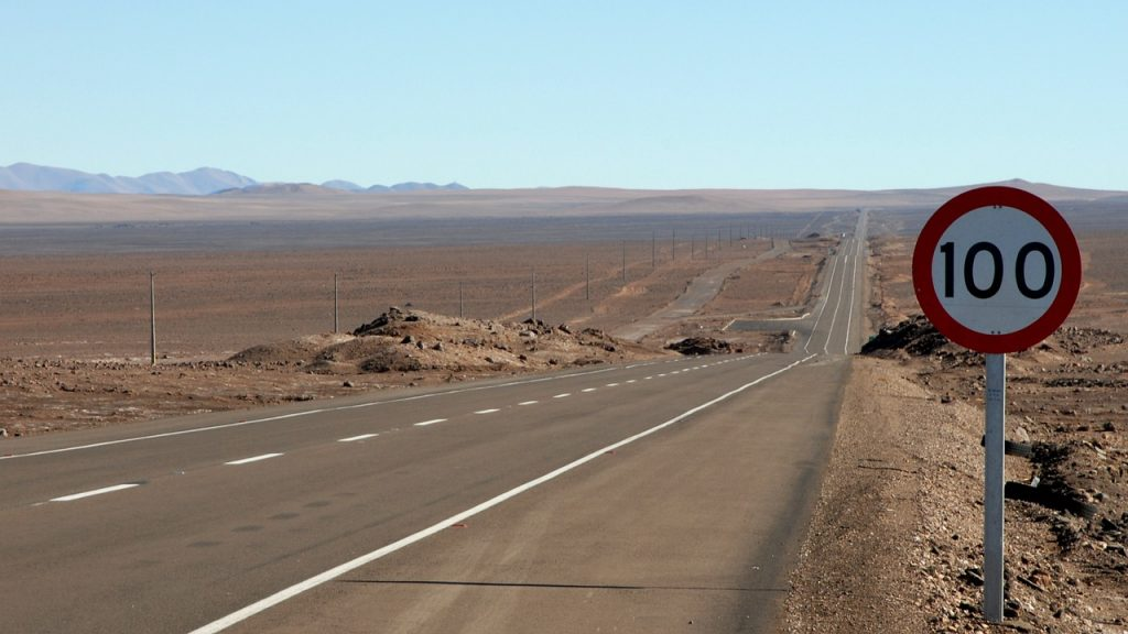 pan american highway is considered to be the longest road in the world. Straight road through plains of south america.