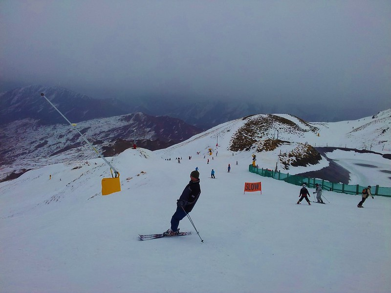 Coronet Peak is one of the most famous ski resorts in New Zealand, located around half an hour out of Queenstown in the South Island.