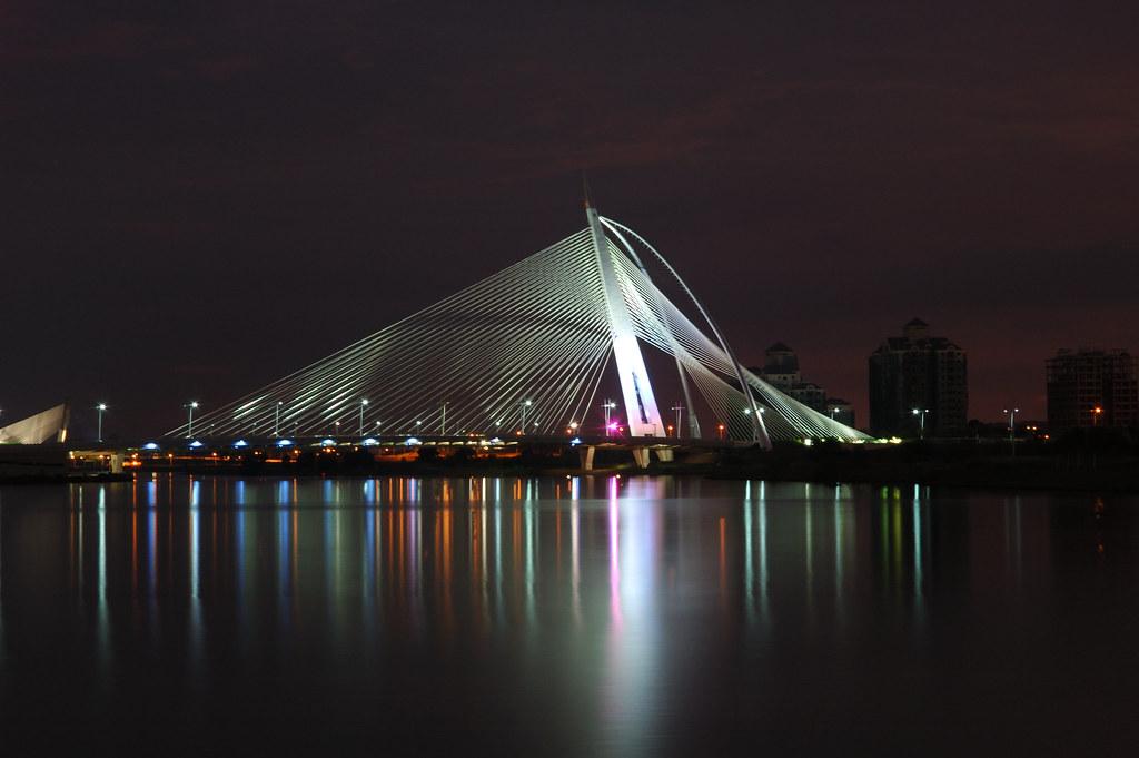 futuristic seri wawasan, a famous bridge in Putrajaya Malaysia