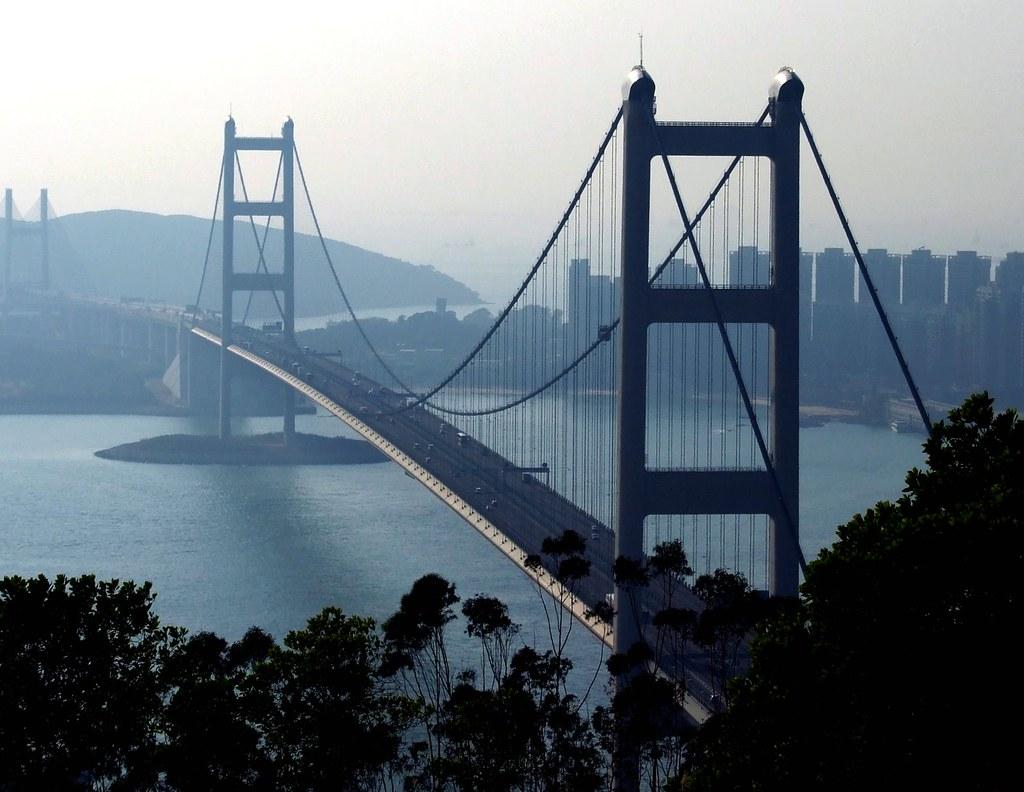 Tsing Ma, a famous bridge in Hong Kong