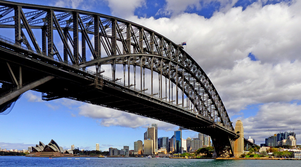 the Sydney Harbour bridge, one of the famous bridges in the world