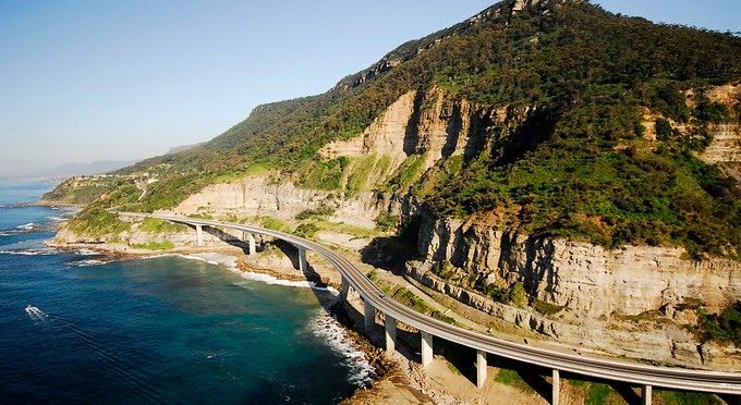 sea cliff, one of the most famous bridges in Australia