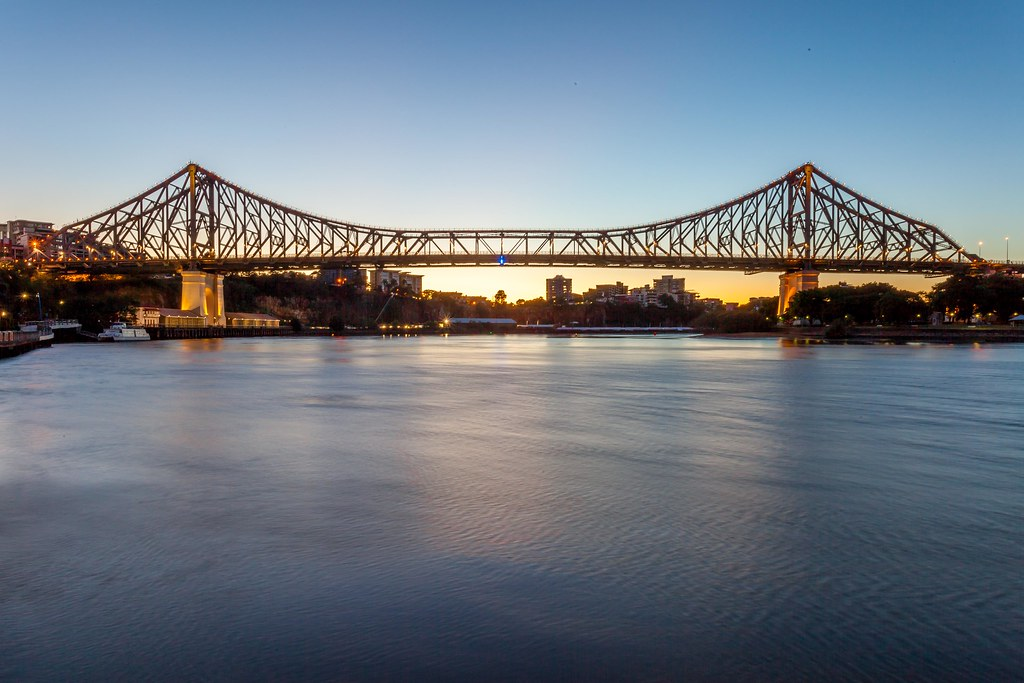 The beautiful story bridge is one of the most famous bridges in the world