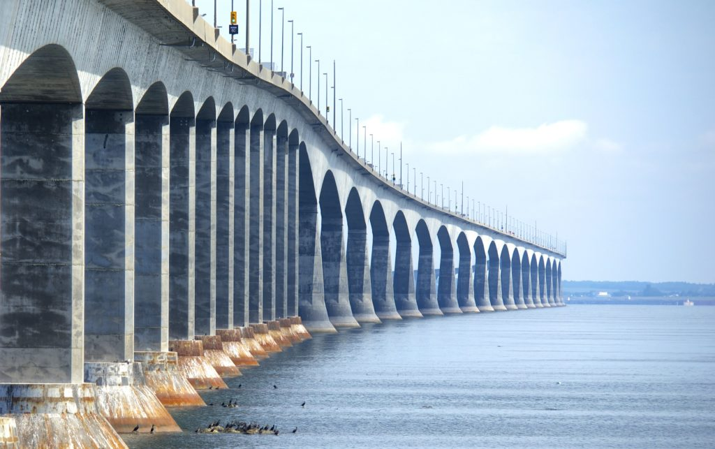 A photo of one of the most famous bridges in the world- the confederation bridge