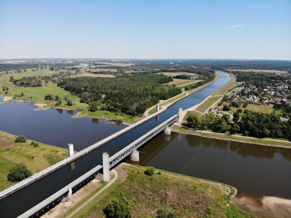 The unique Magdeburg water bridge is famous across the world.