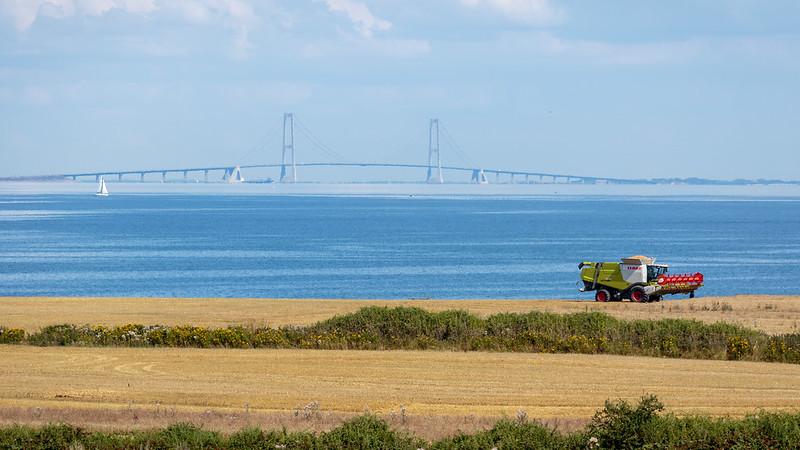 Great Belt Bridge is a futuristic overwater bridge in Denmark