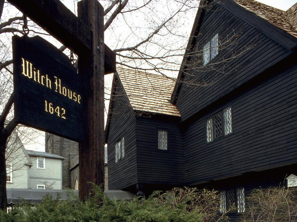 Famous Witch House in Salem, Massachusetts. Visiting this witch town is one of the most popular day trips from Boston.